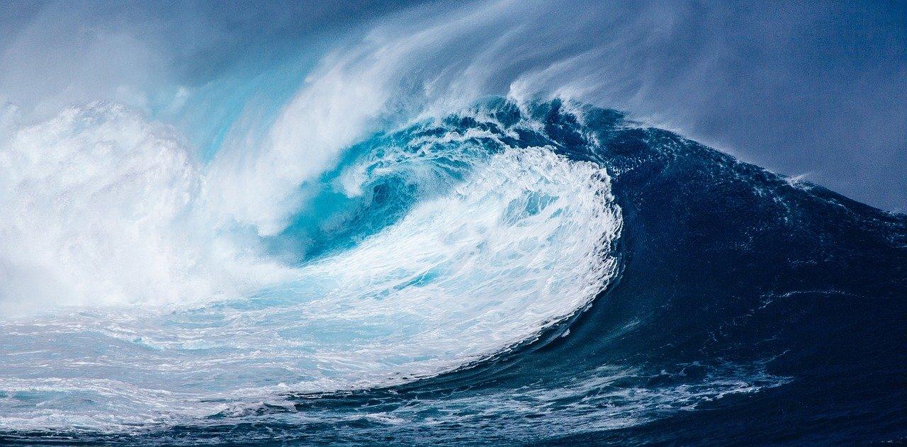 wave, ocean, sea